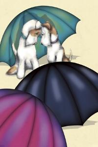 Dogs and Umbrellas by FS Studio
