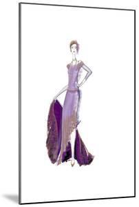 Girl Purple Dress by FS Studio