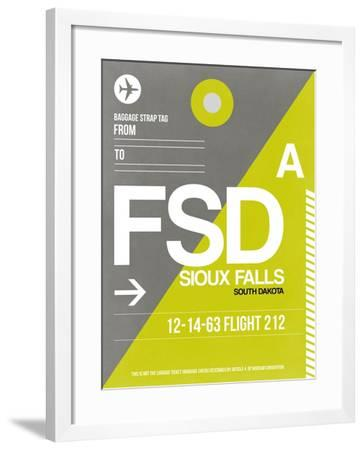 FSD Sioux Falls Luggage Tag II-NaxArt-Framed Art Print