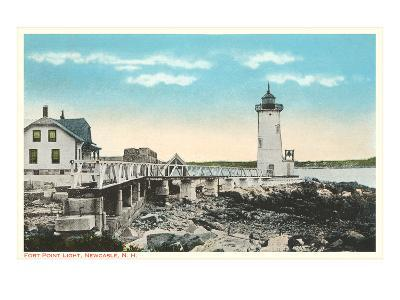 Ft. Point Lighthouse, New Castle, New Hampshire--Art Print