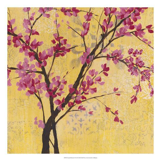 Fuchsia Blossoms II-Jennifer Goldberger-Premium Giclee Print