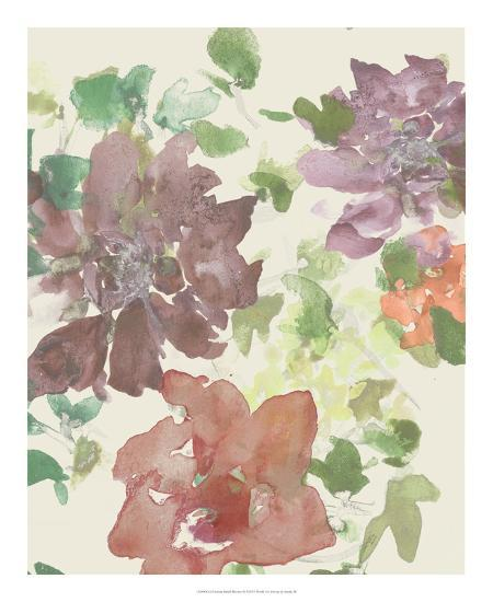 Fuchsia Inked Blooms II-Studio W-Art Print