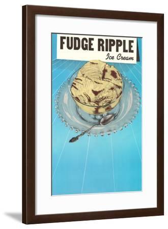 Fudge Ripple Ice Cream--Framed Art Print
