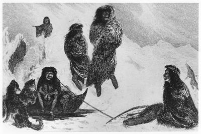 Fuegians Going to Trade with the Patagonians, 1839--Giclee Print