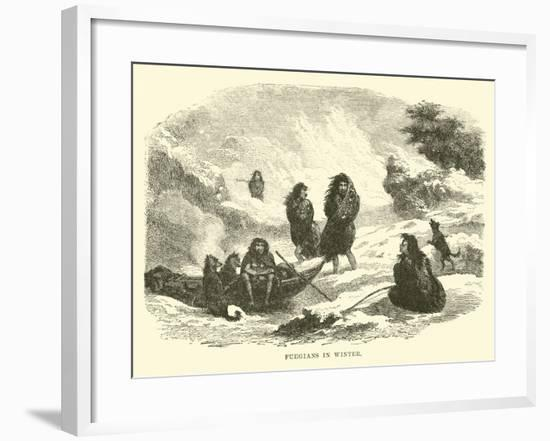 Fuegians in Winter--Framed Giclee Print