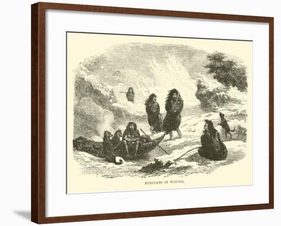 Fuegians in Winter--Framed Giclee Print