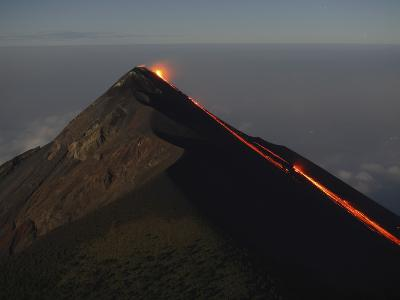 Fuego Lava Flow, Antigua, Guatemala--Photographic Print
