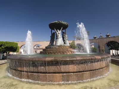 Fuente Las Tarasca, a Famous Fountain, Morelia, Michoacan, Mexico, North America-Richard Maschmeyer-Photographic Print