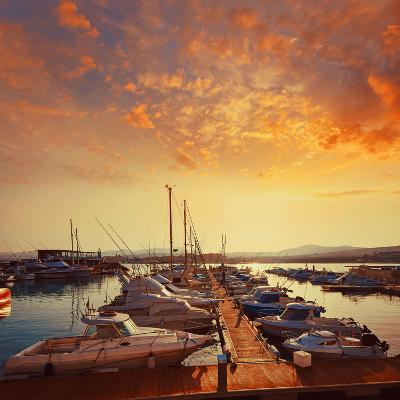 Fuerteventura Caleta Del Fuste Puerto Castillo at Canary Islands of Spain-Naturewolrd-Photographic Print