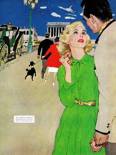 "Fugitive From Romance - Saturday Evening Post ""Leading Ladies"", April 6, 1957 pg.35-Joe deMers-Giclee Print"