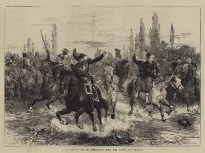 Fugitives from Woerth Riding into Hagenau-Charles Green-Giclee Print