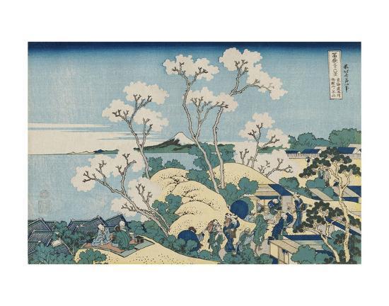 Fuji from Goten-yama, at Shinagawa on the Tôkaidô-Katsushika Hokusai-Art Print
