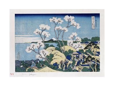 Fuji from Gotenyama at Shinagawa on the Tokaido'-Katsushika Hokusai-Giclee Print