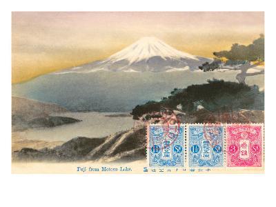 Fuji from Motosu Lake, Japan--Art Print