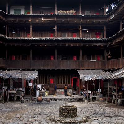 Fujian Tulou (Fortified Earth Building), Tin Shi Lou, Meilin, Fujian Province, China--Photographic Print