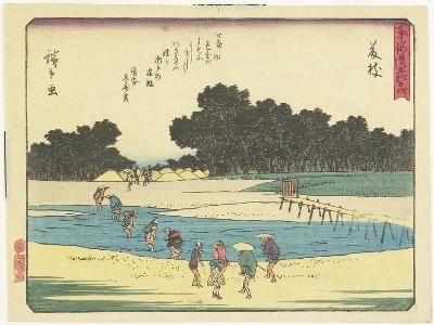 Fujieda, 1837-1844-Utagawa Hiroshige-Giclee Print