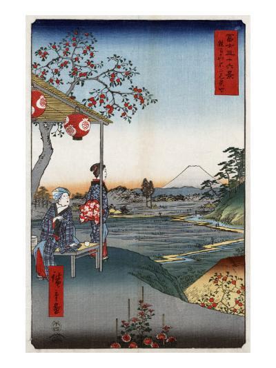 Fujimi Teahouse at Zoshigaya, Japanese Wood-Cut Print-Lantern Press-Art Print