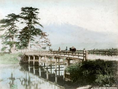 Fujiyama from Yoshiwara, Japan--Giclee Print