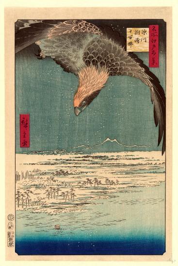 Fukagawa Susaki Jumantsubo-Utagawa Hiroshige-Giclee Print
