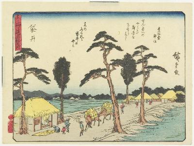 Fukuroi, 1837-1844-Utagawa Hiroshige-Giclee Print