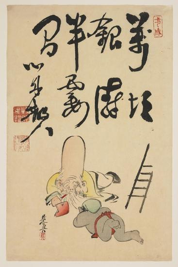 Fukurokuju and Daikoku Gods-Shibata Zeshin-Giclee Print