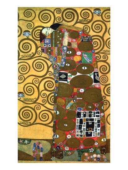 Fulfillment, One of the Kiss Panels, 1909-Gustav Klimt-Giclee Print