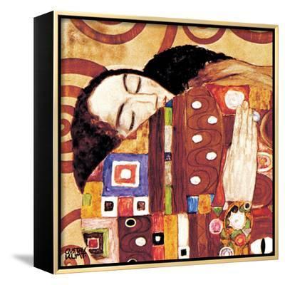 Fulfillment, Stoclet Frieze, c.1909 (detail)-Gustav Klimt-Framed Canvas Print