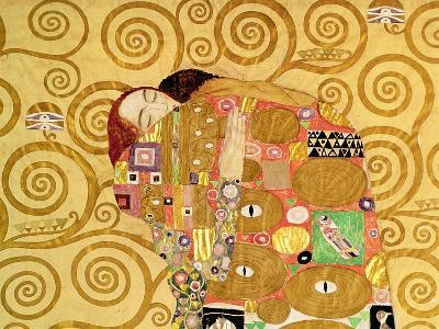 Fulfillment, Stoclet Frieze, c.1909 (detail)-Gustav Klimt-Giclee Print