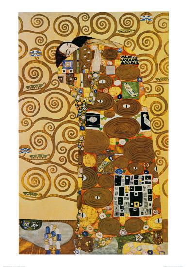 Fulfillment, Stoclet Frieze, c.1909-Gustav Klimt-Art Print