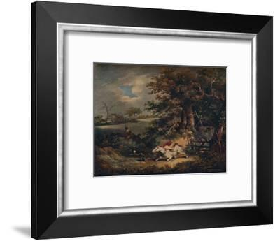 Full Cry - And A Fall', c1790, (1922)-George Morland-Framed Giclee Print