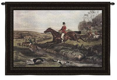 Full Cry-William Shayer-Wall Tapestry