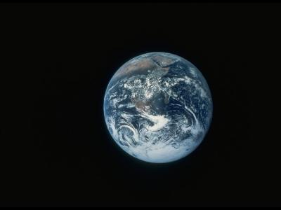 Full Earth as Seen from Space Aboard the Apollo 17--Photographic Print