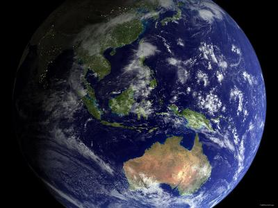 Full Earth from Space Showing Australia-Stocktrek Images-Photographic Print