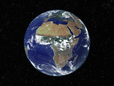 Full Earth Showing Africa, Europe During Day, 2001-08-07-Stocktrek Images-Photographic Print