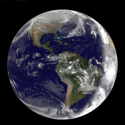 Full Earth Showing North America and South America-Stocktrek Images-Photographic Print