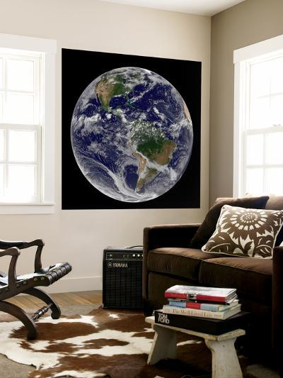 Full Earth Showing North America and South America-Stocktrek Images-Wall Mural