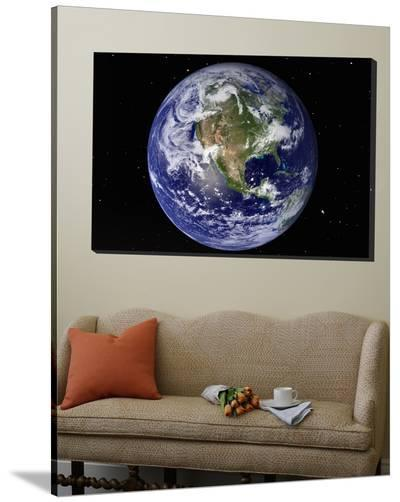 Full Earth Showing North America (With Stars)--Loft Art