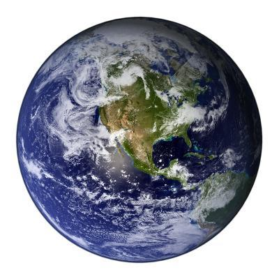 Full Earth Showing North America-Stocktrek Images-Photographic Print