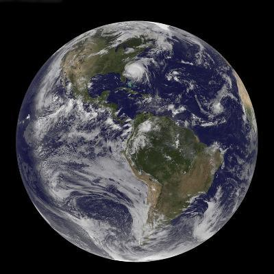 Full Earth with Hurricane Irene Visible on the United States East Coast-Stocktrek Images-Photographic Print