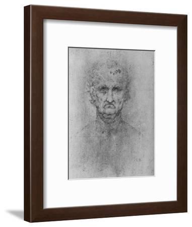 'Full Face of an Old Man', c1480 (1945)-Leonardo da Vinci-Framed Giclee Print