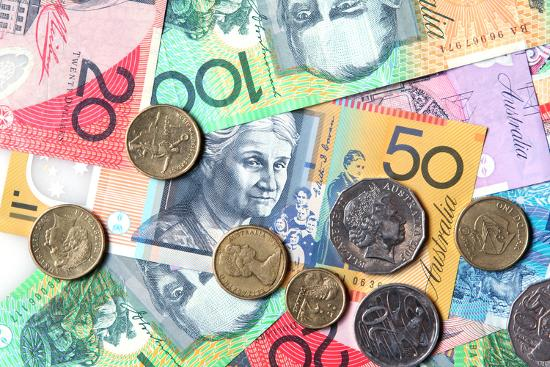 Full-Frame of Australian Notes and Coins-Robyn Mackenzie-Photographic Print