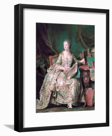 Full-Length Portrait of the Marquise De Pompadour (1721-176)-Maurice Quentin de La Tour-Framed Giclee Print