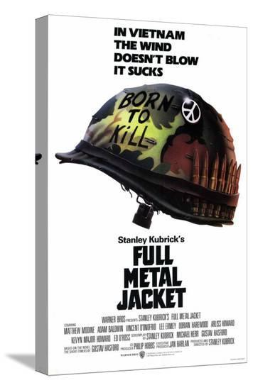 Full Metal Jacket--Stretched Canvas Print