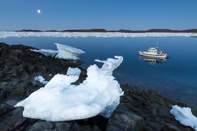 Full Moon and Iceberg, Repulse Bay, Nunavut Territory, Canada-Paul Souders-Photographic Print