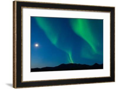 Full Moon and Northern Lights Put on a Magical and Mystical Display in the Night Sky-Tom Murphy-Framed Photographic Print