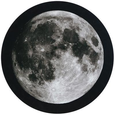 Full Moon - Circular Canvas Giclee Printed on 2 - Wood Stretcher Wall Art