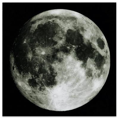 Full Moon - Free Floating Tempered Glass Panel Graphic Wall Art