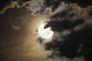 Full Moon in Clouds, Gleichen, Alberta, Canada