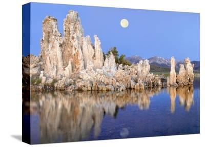 Full moon over Mono Lake, California-Tim Fitzharris-Stretched Canvas Print