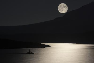Full Moon over Saint Mary's Lake in Montana's Glacier National Park-Keith Ladzinski-Photographic Print